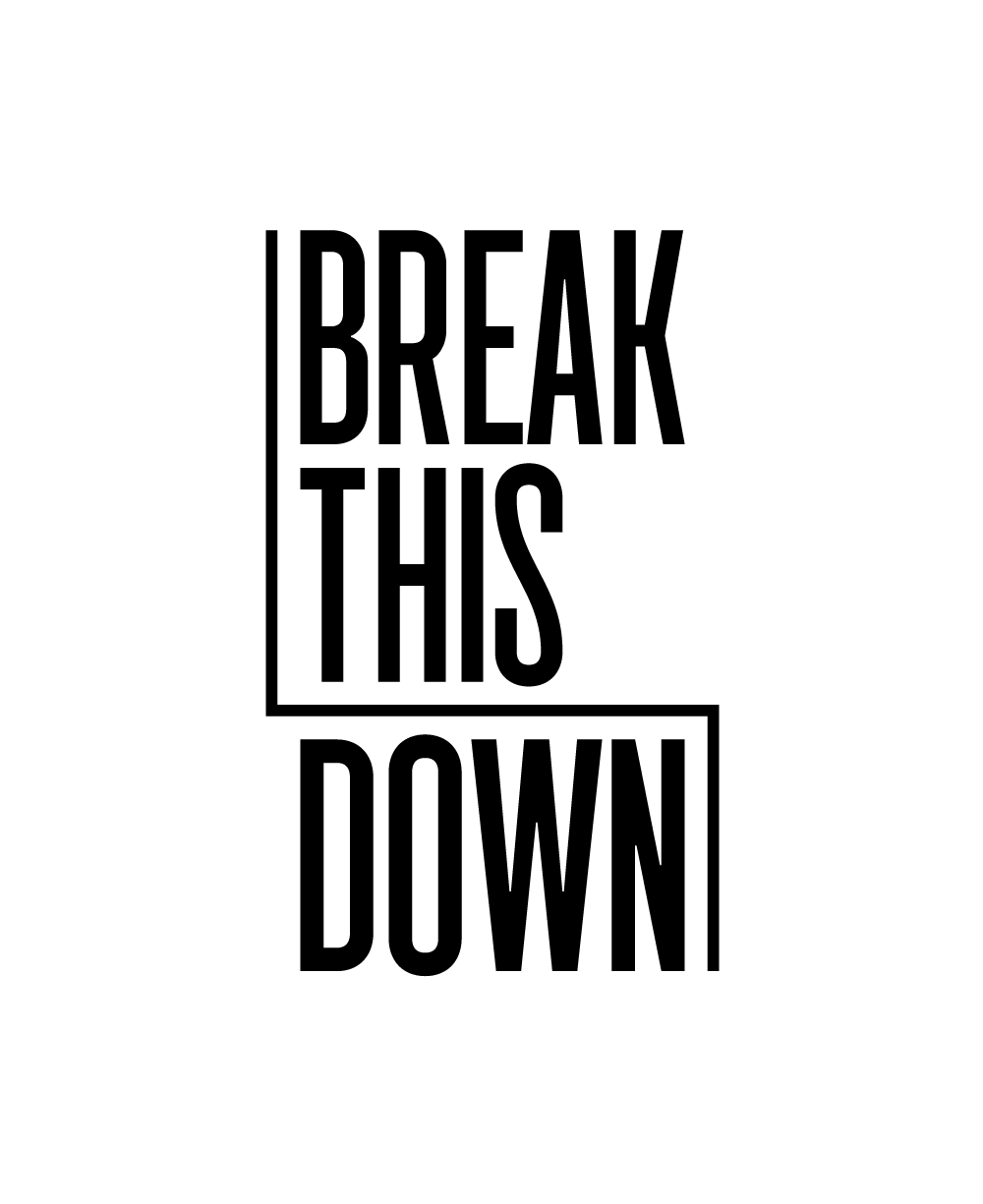 break this down logo
