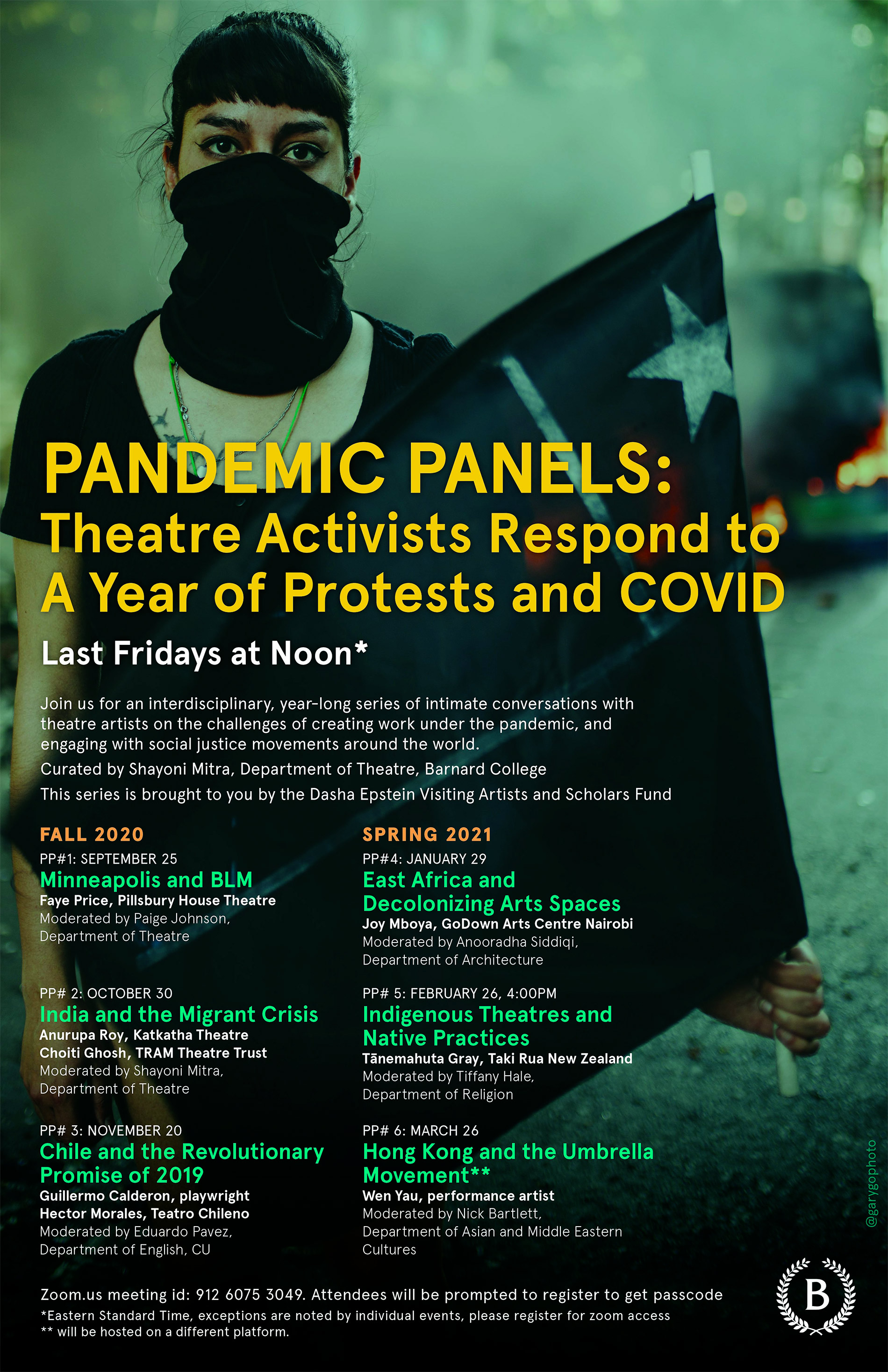 Pandemic panels event poster