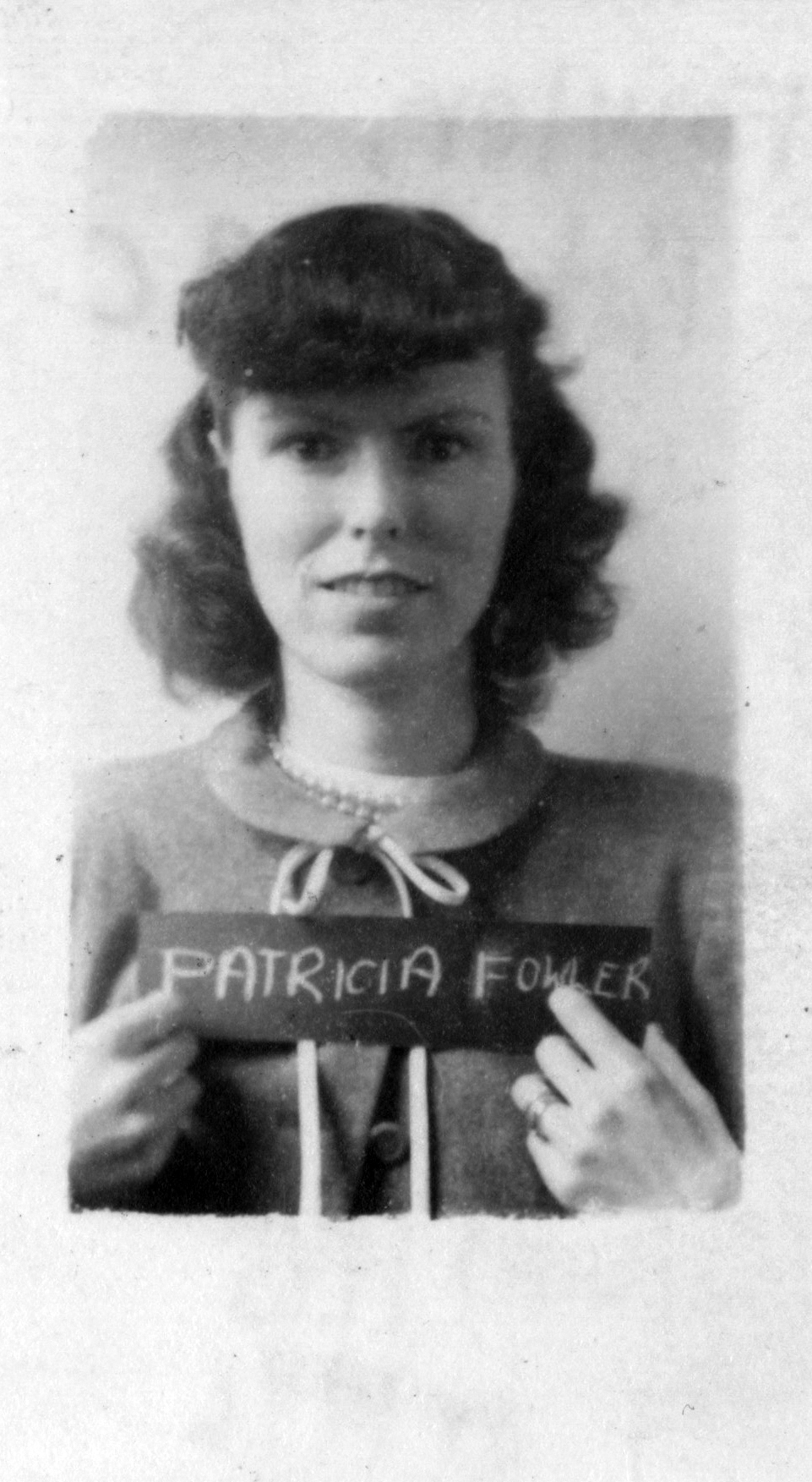 A headshot of a young Patricia Warner when she entered Barnard