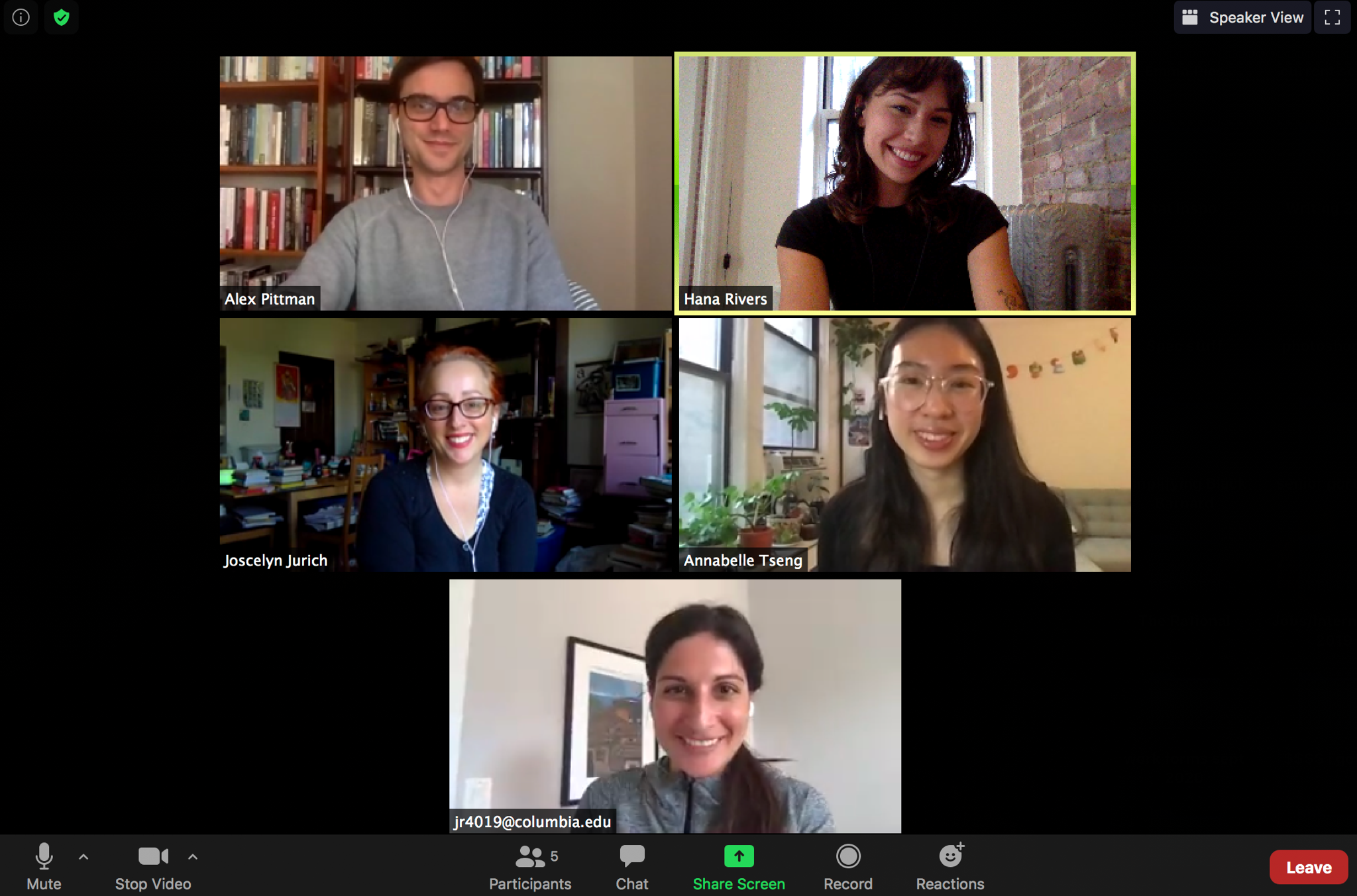 Zoom screenshot of the CEP team meeting during the pandemic