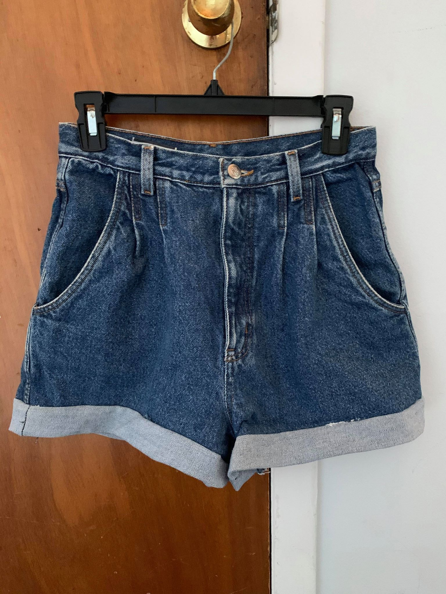 Shorts with a hem added by Slepyan.