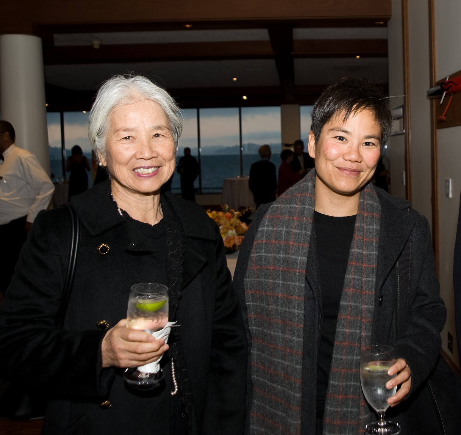 Amy Sueyoshi with her mother.