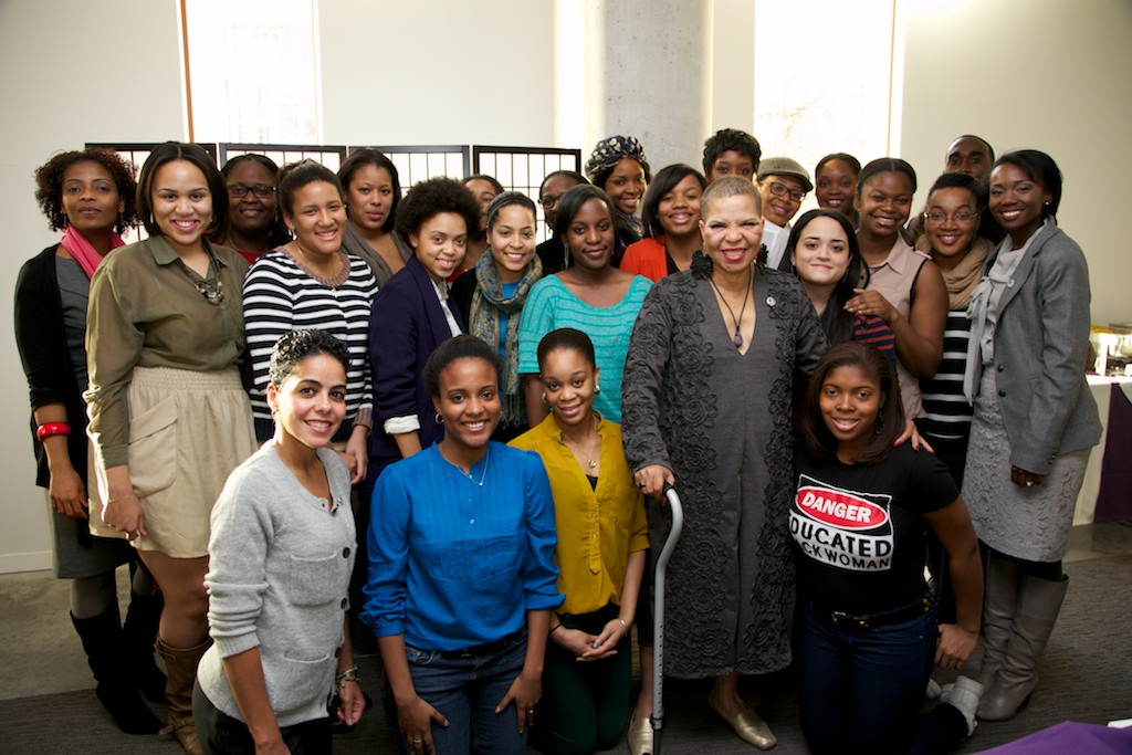 Shange with a group of HEOP scholars.