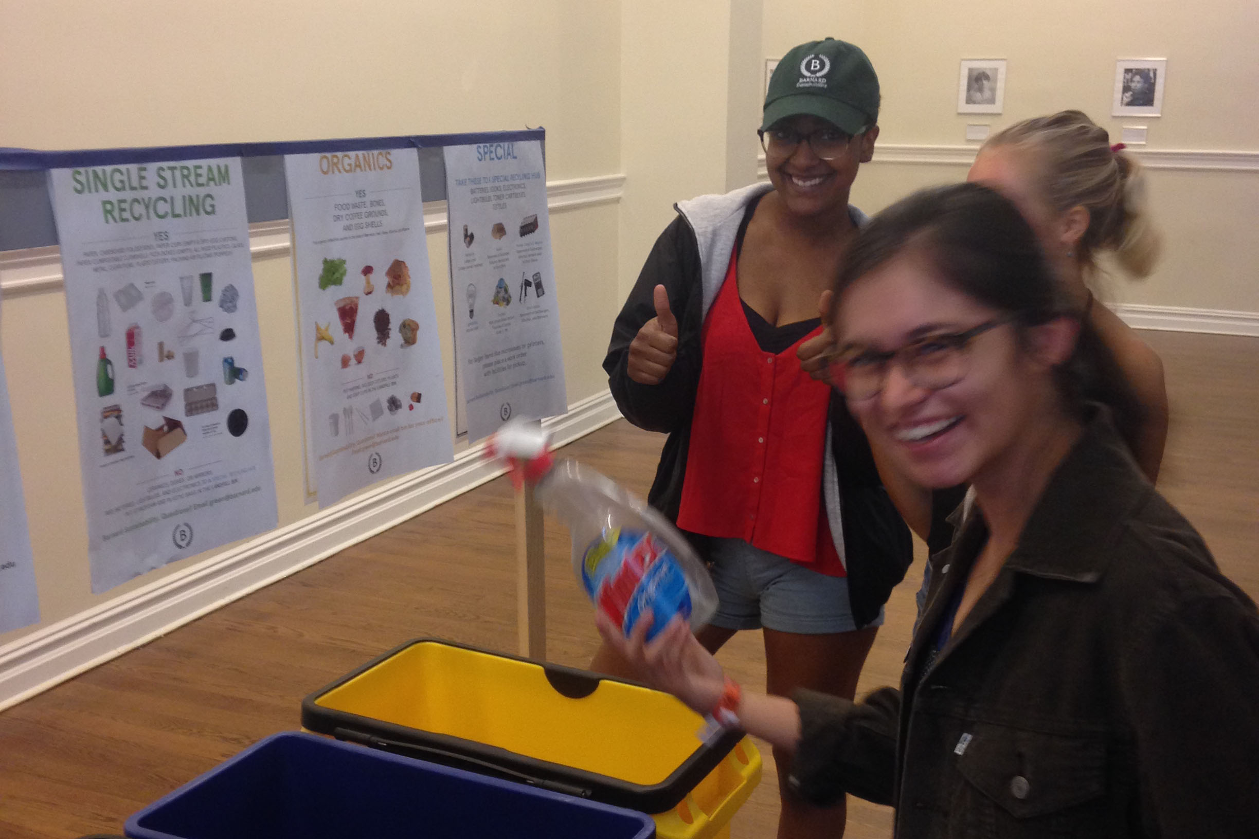 Students learn how to sort their waste during NSOP