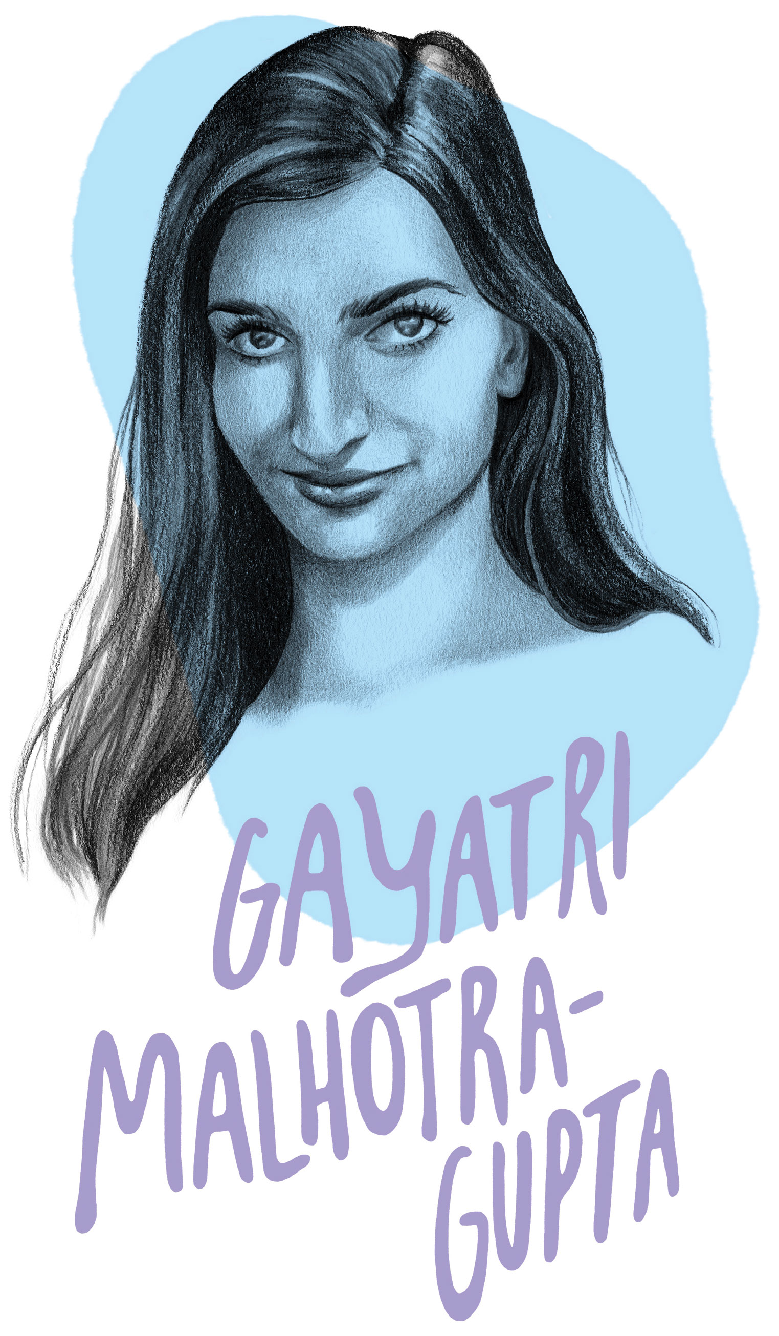Gayatri Malhotra-Gupta Portrait Illustration