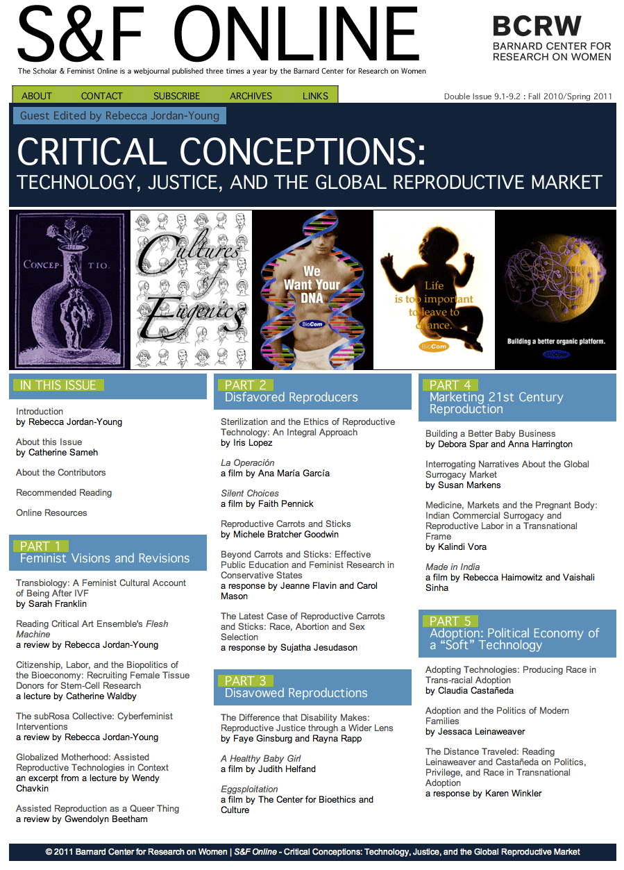 Critical Conceptions: Technology, Justice, and the Global Reproductive Market