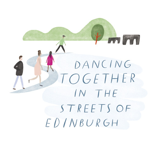 Dancing Together on the Streets of Edinburgh