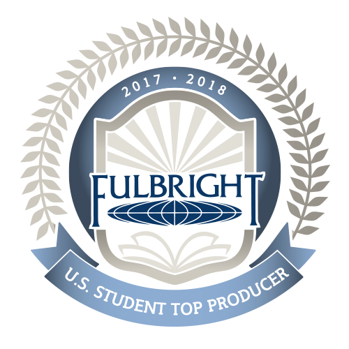 Fulbright Student Program Top Producer Badge 2017-18