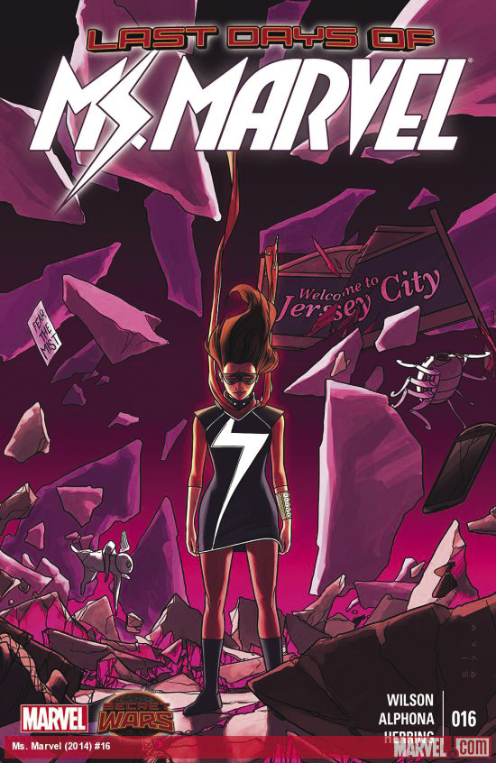 Ms. Marvel cover - jersey city