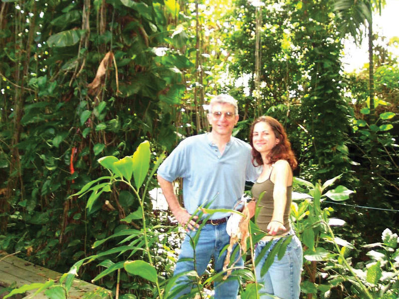 Image of man and woman in rainforest