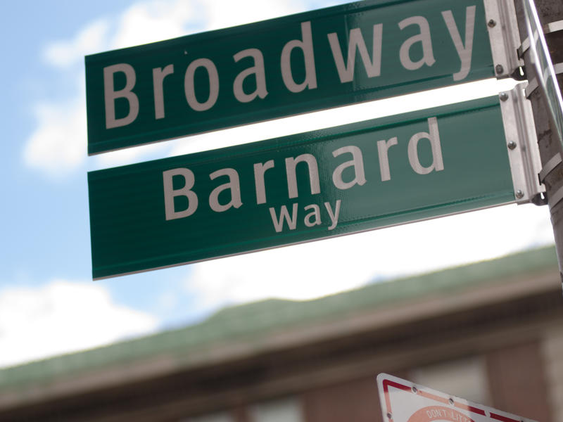 Barnard Way Signs