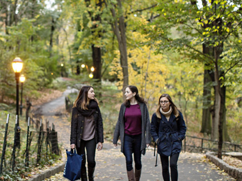 Students in Morningside Park